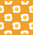 fried eggs seamless pattern background yellow vector image