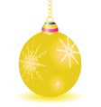 gold ball for decoration vector image vector image