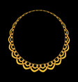 gold chain jewelry on black background vector image