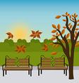 Green park design vector image vector image