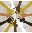 hands to last against the world a vector image vector image