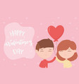 happy valentines day happy valentines day cute vector image