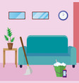 house cleaning cartoon vector image