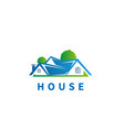 house logo design symbol template flat style vector image vector image