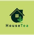 house tea logo template design logo tea house vector image vector image
