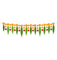 indian traditional mala garland mango leaves and vector image