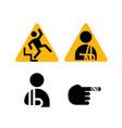 injury sign vector image