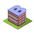 isometric building letter b form vector image vector image