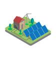 isometric solar power plant vector image