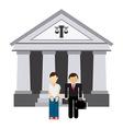 lawyer man vector image