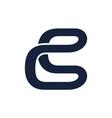 letter cs modern logo vector image