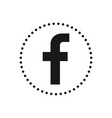 letter f social media icon sign or symbol for vector image vector image