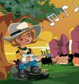 Little Cowboy vector image