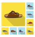 man and foot sign set of vector image