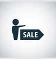 man sale arrow icon simple flat element design vector image vector image