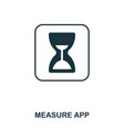 measure app icon mobile app printing web site vector image