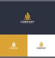modern inspiration real estate logo in gold color vector image