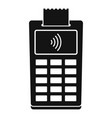 nfc payment terminal icon simple style vector image vector image