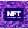 nft non fungible token logo header banner vector image