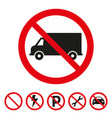 no truck or no parking sign vector image vector image