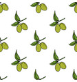 olive branch seamless pattern natural background vector image vector image