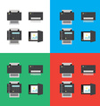 Print scanner fax and shredder flat icons or in vector image vector image