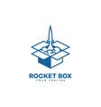 rocket box logo vector image vector image