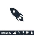 Rocket icon flat vector image