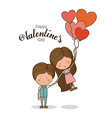 Romantic day design vector image