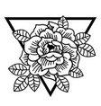 rose flower with sacred geometry frametattoo vector image