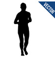 runner silhouette on a white background vector image vector image