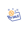 sale tag line icon shopping discount sign vector image