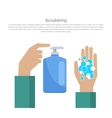 Scrubbing Hand with Soap Design Banner vector image