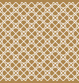 seamless geometric pattern in golden and white vector image vector image