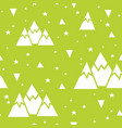 seamless pattern made of mountains stars vector image