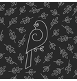 Seamless pattern with bird vector image vector image