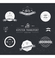 set of black and white hipster modern vector image vector image