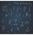 Set of hand-draw things for a birthday celebration vector image vector image
