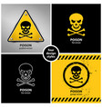 set of poison symbols vector image vector image