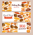 template food with bread products vector image vector image