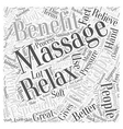 The benefits of massage therapy Word Cloud Concept vector image vector image