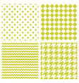 tile pattern set with polka dots and zig zag vector image vector image