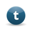 Tumblr icon simple style vector image