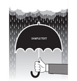 umbrella hands vector image vector image