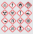 warning hazard pictograms vector image