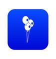 wedding balloons icon digital blue vector image vector image