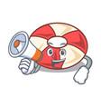 with megaphone swim tube character cartoon vector image vector image