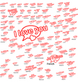 word i love you in different language vector image vector image