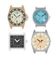 wrist watch icons set mechanical clock vector image