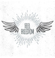 Feel Freedom lettering vector image